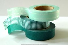 Teal Washi Tape Japanese MINT TEAL Set of 3 perfect Teal Wedding Decoration 147ft total. via Etsy.