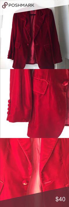 Ralph Ralph Lauren red velvet blazer size 6 Ralph Ralph Lauren red velvet blazer size 6. Silk lined Ralph Lauren Jackets & Coats Blazers