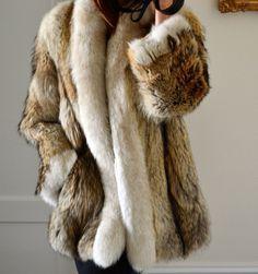 coyote & fox fur jacket