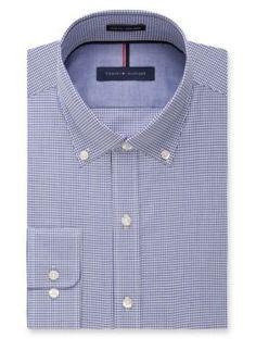 Tommy Hilfiger Ocean Non-Iron Slim Fit Dress Shirt