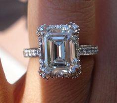 A beautiful emerald cut #engagement #ring