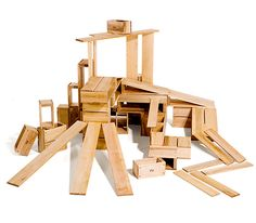 Hollow blocks.  Wish list!  Love the ramps in the set!