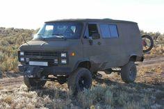 Chevy Vans, Chevy 4x4, Off Road Camping, 4x4 Van, Off Road Adventure, Cool Vans, Rv Trailers, Gm Trucks, Custom Vans