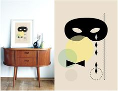 "A3 poster - ""Maske"" Twin Sisters, Great Love, A3, Ikea, Graphic Design, Illustration, Poster, Products, Home Decor"