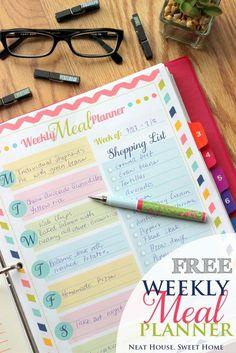 Weekly Meal Planner - Free Printable