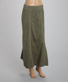 07053a5ebc Look at this  zulilyfind! Kale Stretch Maxi Skirt by XCVI  zulilyfinds http