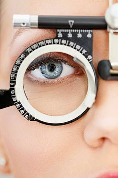At the optician Ophthalmology Optometrist medical eye examination