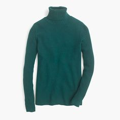 Wool turtleneck sweater with ribbed trim