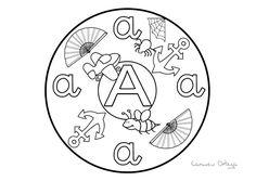 Mandalas del abecedario para colorear