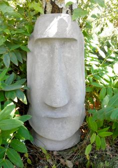 Easter Island Moai Cement Garden Sculpture Tiki Coolness. $75.00, via Etsy.