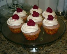 The Great Cupcake Adventure: Raspberry Cupcakes with Champagne Frosting
