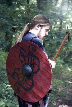 A Viking and his shield