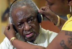 Old Man Hearing Music From His Era