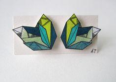 Shrink plastic jewellery by Etsy seller Ann Tranholm.