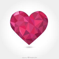 Abstract Triangular Heart Vector