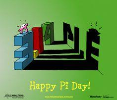 Fun ways to celebrate Pi Day from NCTM Math Cartoons, Math Jokes, Math Humor, Homeschool High School, Homeschool Apps, Math Teacher, Math Classroom, Teaching Math, Teacher Humor