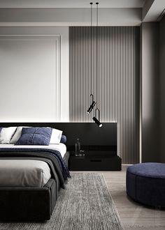 Home Room Design, Design Your Home, Bed Design, Home Interior Design, House Design, Indian Bedroom Design, Autocad, Adobe Photoshop, Gray Interior