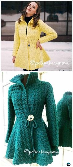 Crochet Princess Cardigan Free Pattern - Women Sweater Coat-Cardigan Free Patterns - Crafts All Over Cardigan Au Crochet, Gilet Crochet, Crochet Poncho, Crochet Stitches, Crochet Patterns, Crochet Sweaters, Crochet Cardigan Pattern Free Women, Pull Crochet, Mode Crochet