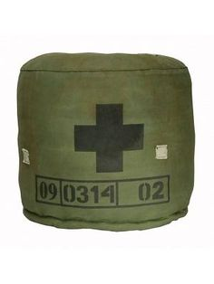 Make poufs out of army duffel HK living