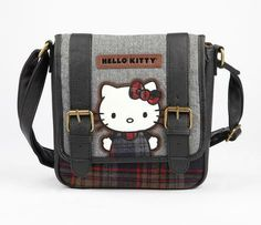 Hello Kitty Crossbody Pouch: Plaid. I think I need to own this