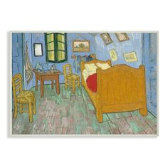 Wooden Jigsaw Puzzles 500 Pcs Painting The Bedroom in Arles by Vincent Van Gogh for sale online Vincent Van Gogh, Canvas Artwork, Artist Canvas, Painting Canvas, Van Gogh Arte, Van Gogh Pinturas, Grant Wood, Van Gogh Paintings, Impressionist Paintings