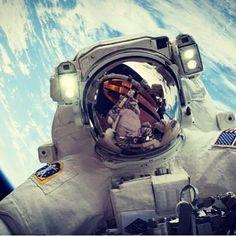 Astronaut Mike Hopkins on a spacewalk. #space #nasa #astronaut #propulsion #rockets #futuretech #engineering