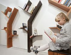 #tree shape #bookshelve design ideas for #kids #room