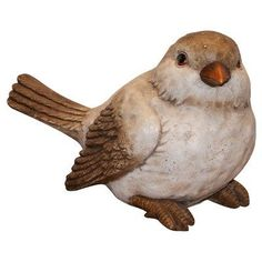 """Alpine Bird Statuary by Alpine. $44.99. Dimensions: 18""""L x 10""""W x 12""""H. Weight: 4.29 lbs.. WBL114 Features: -Statuary.-Made of durable cast stone resin.-Add a fun look to your landscape.-Group them in your walkway, garden and pond or use individually around the deck or patio.-Made with the precision of fine detailed craftsmanship. Color/Finish: -Colorful painted finish. Dimensions: -Dimensions: 12'' H x 10'' W x 18'' D."""