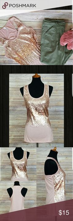 "MAUVE SEQUINS TANK - NWOT 🔴PRICE FIRM🔴💕NWOT -  SUPER SWEET! 💕 This Sequins Tank with a ""Racerback"" is lightweight and SUPER CUTE! 😍  Although, its sequins it can go with just about anything!  It looks FABULOUS as a ""Dressy Casual"" look as well!  70% Polyester, 30% Rayon *SMOKE FREE AND PET FREE HOME* Tops Tank Tops"