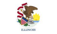 Illinois's flag has an eagle on it.