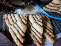Galletas Triángulos de Coco y Cacao