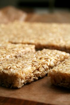 "Chewy granola bars w/out honey...Ok, so mine weren't so much ""bars"" as ""clumpy mess"". Good, but not bars, just plain ol' granola."