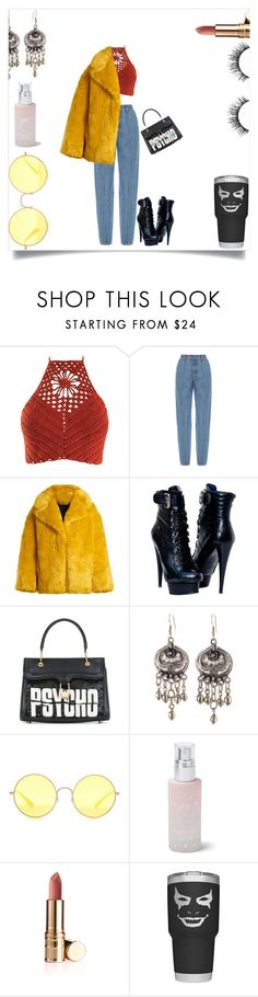 """""""Cold"""" by alwaysdreaming16 ❤ liked on Polyvore featuring Ksenia Schnaider, Diane Von Furstenberg, Olympia Le-Tan, Ray-Ban, Omorovicza and Velour Lashes"""