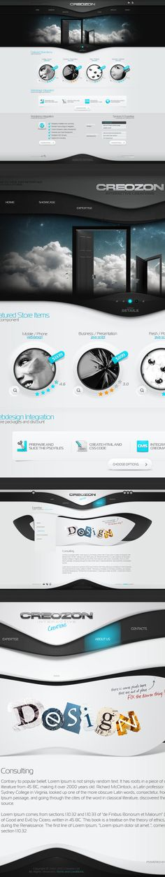 Creozon website by Tsvetelin Nikolov, via Behance