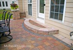 Block and Paver Entrance Steps Photos