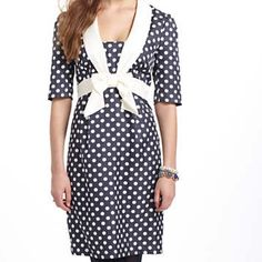 Anthropologie Hi There By Karen Walker Dress Adorable and retro style dress by Hi there From Karen Walker at Anthropologie. This is your perfect Mad Men Dress. Fantastic Condition, worn once before. Cute polka dot navy blue and white. size 8. Anthropologie Dresses Midi