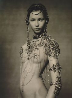 Tiiu Kuik in Jean Paul Gaultier for The Poetic Spirit, photographed by Paolo Roversi, Vogue Italia, September 2003