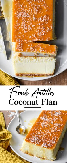 French Desserts, Just Desserts, Delicious Desserts, Dessert Recipes, Coconut Flan, Coconut Recipes, Sicilian Recipes, Sicilian Food, Cuban Recipes