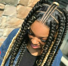 Tree braids are one of the most trending braids hairstyles. Women incorporate tree braids hairstyles for different reasons. Box Braids Hairstyles, African Braids Hairstyles Pictures, Braided Hairstyles For Black Women, Braids For Black Hair, Hairstyle Ideas, Short Hairstyles, Braids For Black Women Cornrows, Braids For Black Women Box, Nigerian Braids Hairstyles