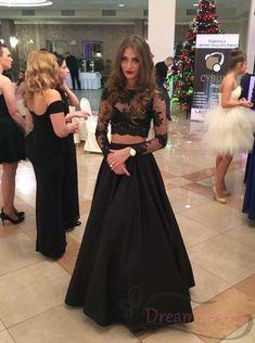 Prom Dresses Lace Sleeves, Prom Dresses Long Modest, Senior Prom Dresses, Prom Dresses 2016, Prom Dresses For Teens, Cute Prom Dresses, Black Prom Dresses, Lace Dress Black, Dress Long