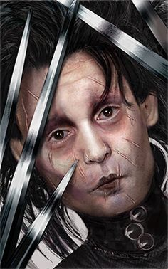 Edward Scissorhands speedpaint by ~DeletedSeen on deviantART