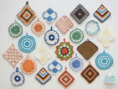 A variety of potholders