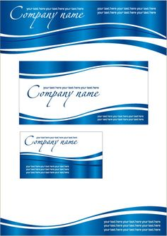 Letterhead and envelope in blue.