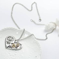 Steampunk Heart Necklace - Sedalia Designs