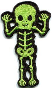 Amazon.com: Skull Skeleton Goth Punk Emo Horror Appliques Hat Cap Polo Backpack Clothing Jacket Shirt DIY Embroidered Iron On / Sew On Patch #13: Arts, Crafts & Sewing