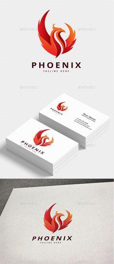 Phoenix Logo — Photoshop PSD #regal #immortality • Available here → https://graphicriver.net/item/phoenix-logo/20695856?ref=pxcr