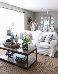 White Living Room Would Add A Instant Impact To Your House. Above All White Creates Way For Clean, Cool And Calm Atmosphere To Your Home. Living Room White, Room Decor, Interior Design, White Living Room Decor, Couches Living Room, Home, Interior Design Living Room, Family Room, White Sofa Living Room