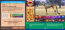 Switcheroo Zoo - online/virtual zoo.  Guided tour to create animals (make believe) build an online habitat (with real animal facts) feed the animals by diet type, play where do I live to learn animals homes, etc..