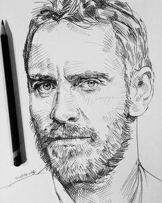 A #quicksketch of #MichaelFassbender in the #sketchbook #sketch #drawing #artfido #artofdrawingg #artcollective #worldofartists #worldofpencils #sketchoftheday #dibujo #✏️ #blvart #artnerd2016  #nawden #pencilportrait
