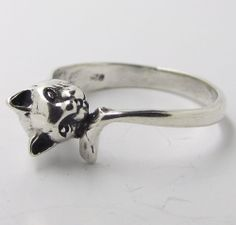 Sterling Silver Elephant Ring, 3.5mm Stacking in Sizes G-Z